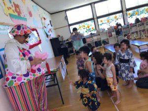 熊本の保育園で派遣マジシャン