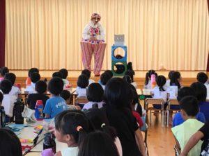 福岡の保育園でマジシャン